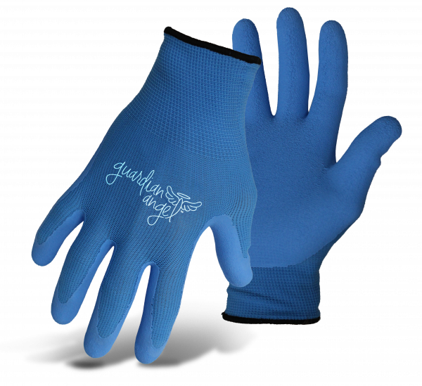 Boss Guardian Angel Nylon Knit Latex Palm blue gloves