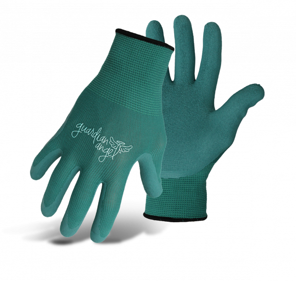 Boss Guardian Angel Nylon Knit Latex Palm green gloves
