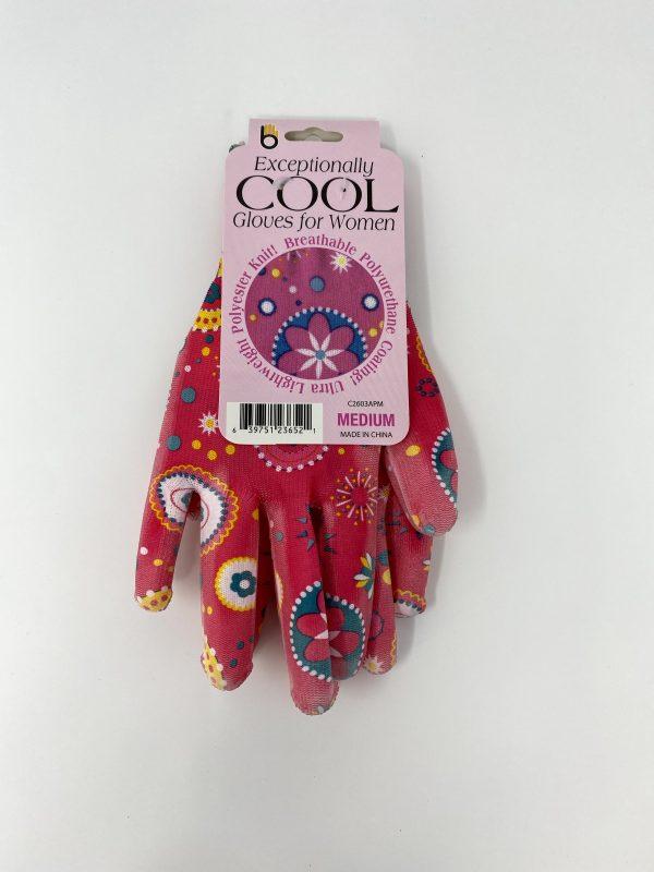 pink Patterned Gloves