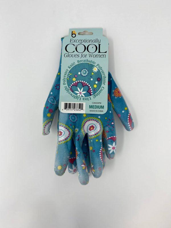 blue Patterned Gloves
