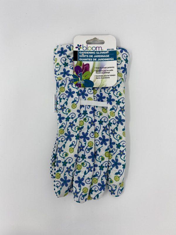 Bond Bloom Garden Gloves in blue color