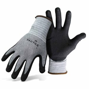 Boss Tactile Dotted & Dipped Nitrile Palm & Fingers gloves