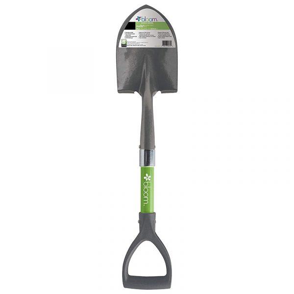 Bond Bloom Mini D Handle Shovel in green color